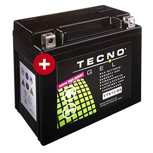 YTX12-BS Tecno Batteria Gel per Beverly 300 ad Es. Anno 2010-2015