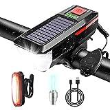 Hootracker Faro per Bici Luce LED per Bicicletta Ricaricabile USB a energia Solare con Cam...