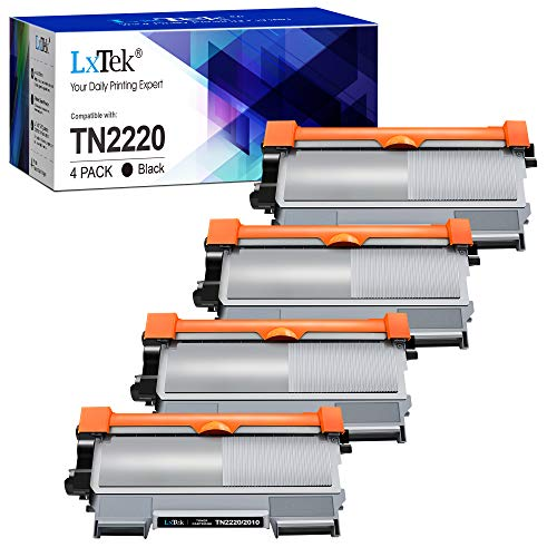 LxTek Compatible Reemplazo para Brother TN2220 TN-2220 TN2010 TN-2010 Cartuchos de tóner para Brother MFC-7360N HL-2130...