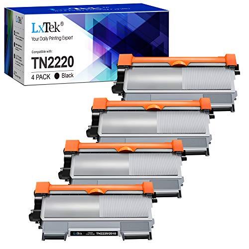 LxTek Compatible Reemplazo para Brother TN2220 TN-2220 TN2010 TN-2010 Cartuchos de tóner para Brother MFC-7360N HL-2130 2240D 2250DN 2270DW FAX-2840 2940 DCP-7060D 7055 7055W 7065DN 7070DW (4 Negro)