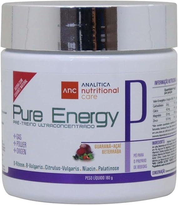 Suplemento pré treino Pure Energy Ultra Concentrado com Palatinose e D-Ribose 180g Analítica Nutritional Care