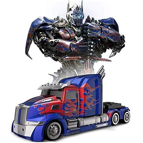 Decoración de escritorio 2.4G RC Transformers Optimus Prime Bumblebee Stunt Car sonidos de las luces 360 ° de rotación de la deriva de los niños cumpleaños de los muchachos del regalo de la fiesta de