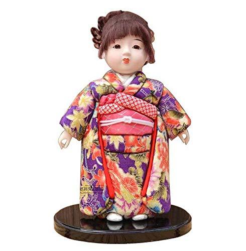 24station Muñeca Japonesa Geisha Kimono Kimono muñeca Figura Coleccionable decoración, 15