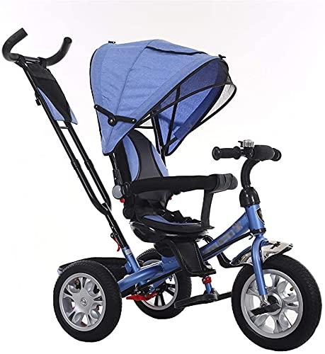 Cochecito de bebé Bassinet Cochecito de cochecito cochecito cochecito cochecito multifuncional cochecito de bebé triciclo bicicleta de acero al carbono carro de niños carrito con embrague y arnés de s