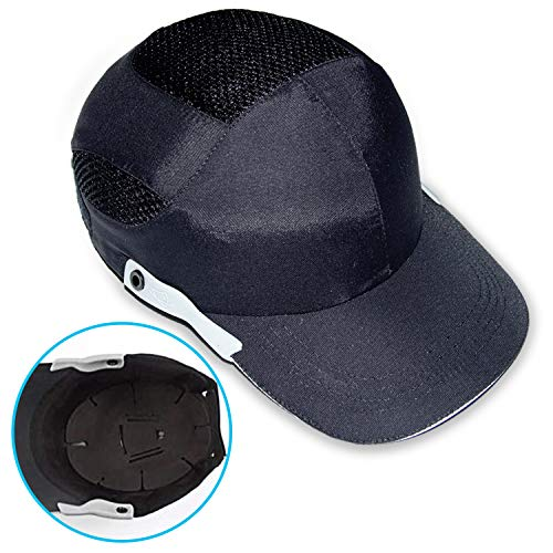ANNA'S 防災用品 防災グッズ ヘルメット 防災 ヘルメット 作業 防災ヘルメット ヘルメット 帽子 安全帽 ヘルメット インナー ヘルメット ライト 安全ヘルメット 作業キャップ プロテクタ 軽量 通気 熱中症対策 EVA衝撃吸収パッド CE(EU安全規格) (ブラック)