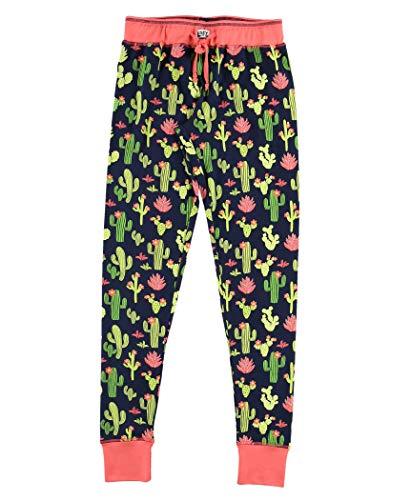 Lazy One Damen Pyjama Leggings Stuck in Bed Cactus L