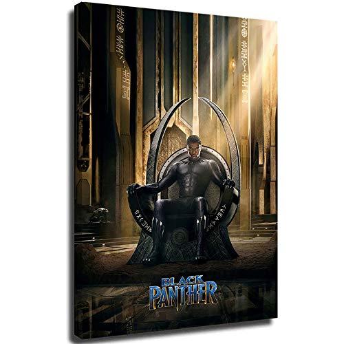 Black Panther - Poster per il bagno, motivo Avengers Infinity War Black Panther in 3D, dipinto in legno, 50 x 76 cm, decorazione moderna per soggiorno, camera da letto, allungata e pronta da appendere