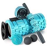 HBselect Foam Roller 5 in 1 Set Attrezzi Fitness Multiuso Rullo...