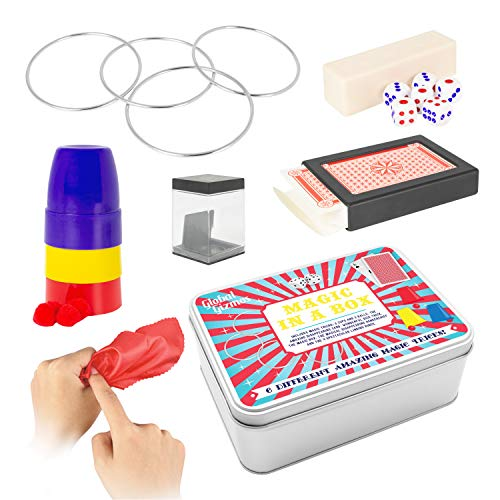 Global Gizmos 56060 Magic in a Box Gift Set   6 Different Tricks   Travel...