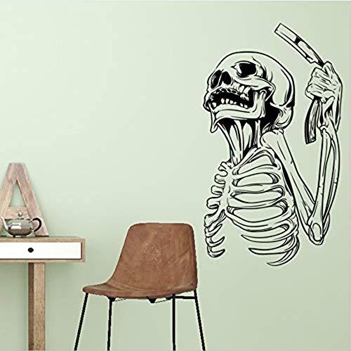 Wandaufkleber Neue Halloween Halloween Rasiermesser Schädel Wandaufkleber Schaufenster Dekoration Aufkleber