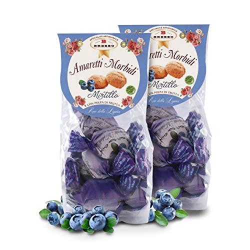 Amaretti Morbidi al Mirtillo, 150 Grammi (Confezione da 2 Pezzi)