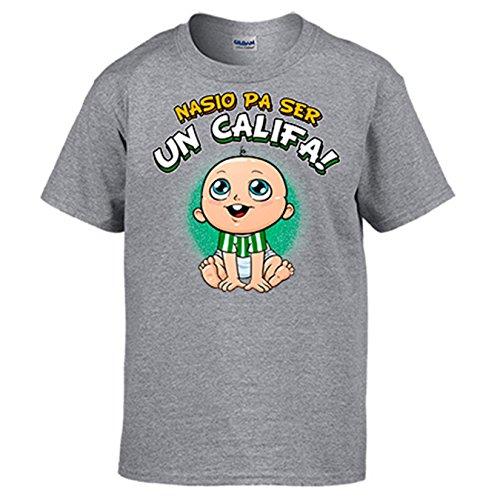 Camiseta Nacido para ser Califa para Aficionado al fútbol de Córdoba - Gris, 5-6 años