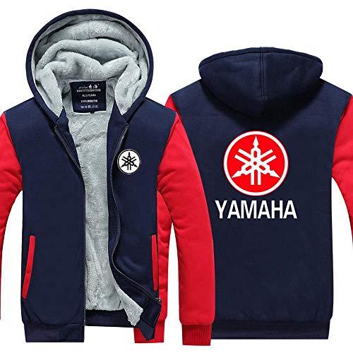 Outwear Unisex con Capucha De La Chaqueta - Yamaha Suzuki Impreso Suéter Caliente Escudo - Zip Uniforme De Béisbol De Empalme Manga Larga Suéter-Adolescente Regalo V-XXXL