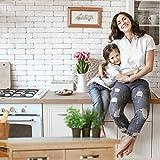 Relaxdays Küchenwagen Holz, Bambus, 4 Rollen, Arbeitsplatte aus Marmor, mit Schubladen, HBT: 85,5 x 89,5 x 36 cm, natur - 3