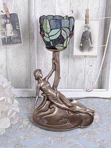 Tischlampe Jugendstil Tiffany Leuchte Frauenskulptur Tischleuchte Frau Palazzo Exklusiv