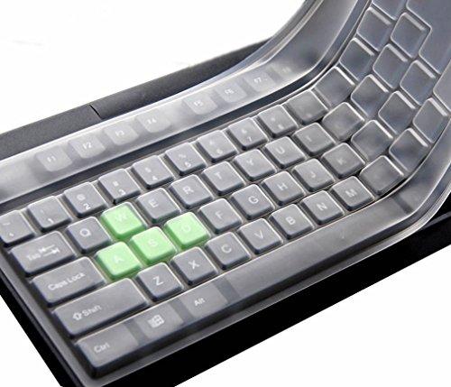 Folox Clear Silicone Keyboard Covers, Waterproof Anti-Dust Keyboard Protector for Desktop PC with Standard Size 108 Keys
