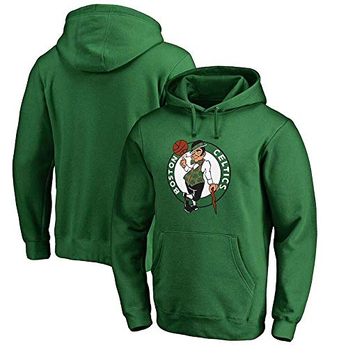 LLSDLS Sudadera con Capucha de la NBA for Hombre Boston Celtics Baloncesto Jersey Holgado Verde Gris Camiseta de Manga Larga cómoda Talla S-3XL Camiseta (Color : Green, Size : L)