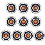 A/A MOTINGDI 10 piezas 40 x 40 cm profesional tiro con arco objetivo práctica dardos caza tiro accesorios