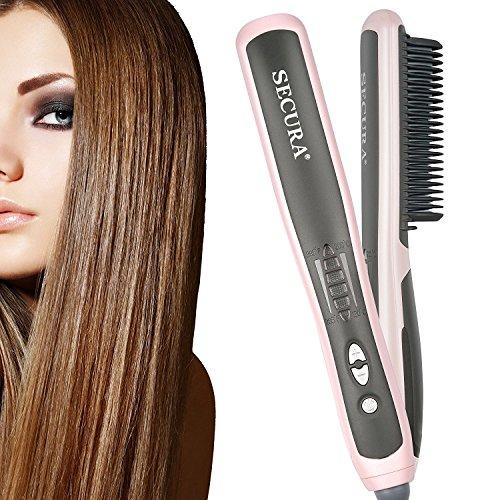Secura Hair Straightener Comb with PTC Ceramic...