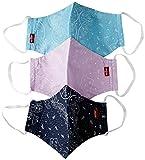 Levi's Unisex 3pk Reusable Face Cover Bandana, colore Azul, mordao, topacio S...