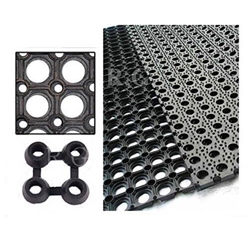 Gummimatte Schmutzfangmatte Ringgummimatte Ringmatte Verbinder 5 Größen (80x120)