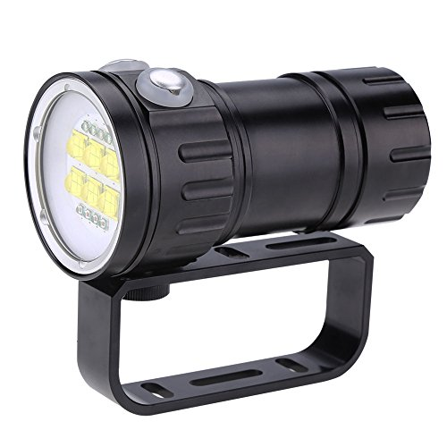 sottomarino - Torcia a LED ad alta potenza, 28800 lumen, impermeabile, torcia a LED, 80 m, impermeabile