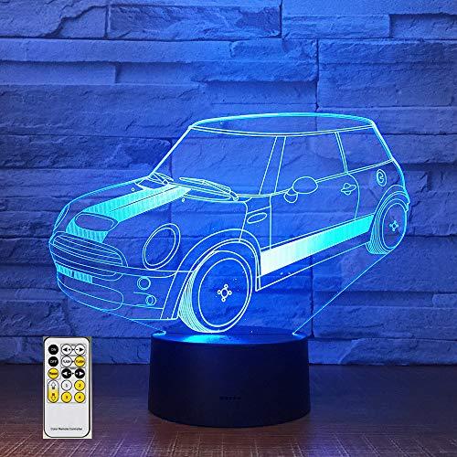 Fernbedienung Auto Licht Stereo Illusion Tisch Nachttischlampe Festival Geburtstag Kind Jungen Geschenk
