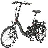 AsVIVA E-Bike Elektro Faltrad B13 mit 36V 15,6Ah Samsung Akku, extrem kompakt | 20″ Klapprad mit 7 Gang Shimano Kettenschaltung, Bafang Heckmotor, Scheibenbremsen | Elektrofahrrad schwarz - 2