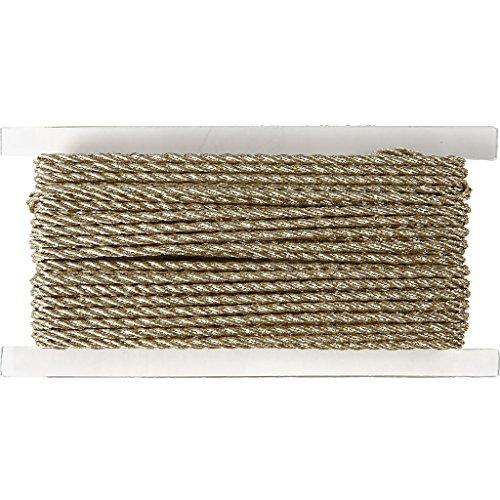 Corde, épaisseur 2 mm, or, 5m