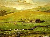 ミレー 「ヴォージュ山中の牧場風景」 原画同縮尺近似(40号) millet-03-08