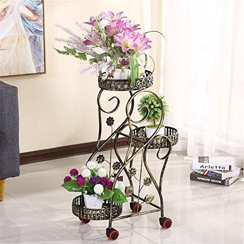Support simple et élégant de fleur de GraphicIron/support, présentoir de fleur de plante, salon de balcon d'intérieur