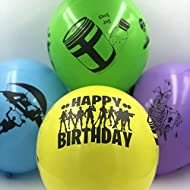 """PIXEL Products Battle Gamer 12"""" Four sided Latex Balloons (16 Pack) - Party Bag fillers, favours, Lo..."""