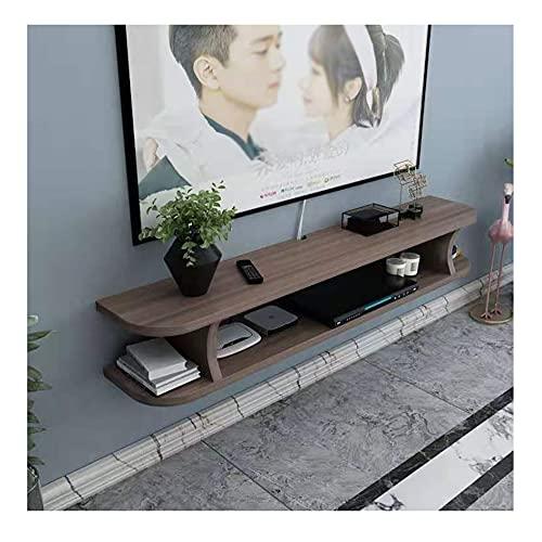 GEREP Mueble TV Colgante Mueble de TV, Mueble TV Flotante TV Unidad Gabinete, 3 Compartimentos Abiertos, Muy Robustos/B / 80×20×13cm
