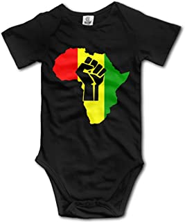 Baby Outfit Creeper Short Sleeves Bodysuits - African Black Power