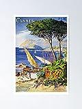 AZSTEEL Póster de Cannes con el mejor regalo de 29,7 x 41,9 cm para amigos y familia