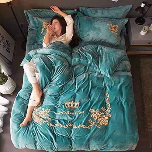 RESUXI Einzelne Weihnachten Bettbezug, Neue 3-teilige Bettwäsche Set italienische Crushed Velvet Bettbezug mit 2 Kissenbezug