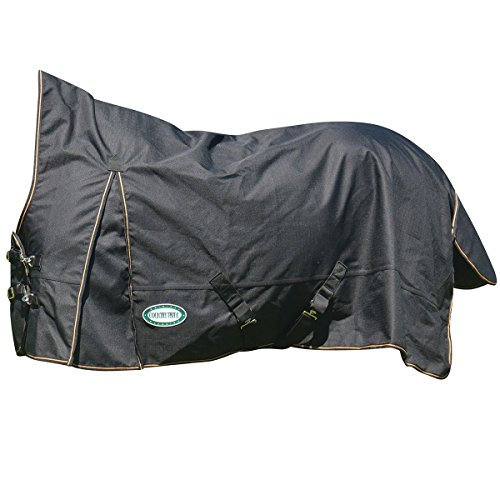 Country Pride Paladin 1200D High Neck Heavyweight Turnout Blanket - Sz 76 - Black