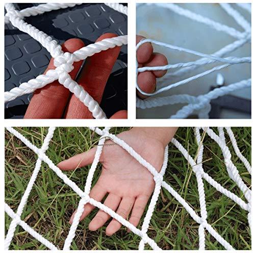 Child Safety Net Protection Climbing Frames White railing net, Child Stair Safety Net Construction Network Cargo Network Cat net Garden decoration net 6mm / 5cm (2 * 5m) ( Size : 2*4M(7*13ft) )