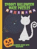Spooky Halloween Maze Puzzles: Large Print 30 Halloween mazes with solutions