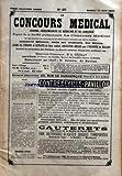 CONCOURS MEDICAL (LE) [No 25] du 23/06/1900 - HOMMAGES AUX DRS CEZILLY ET GASSOT - LA SCIENCE ET LE MARIAGE - LE MAL DE MER - TUBERCULOSE - ANESTHESIE GENERALE PAR LES INJECTIONS DE COCAINE - ETENDUE DU DANGER MUTUALISTE ET LE REMEDE