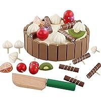 Demarkt Mini Set de Juguete para Niños Cortar Tarta de Cumpleaños con Pastel de Fruta Niña Infantil Cocina Juguetes para Niños Educativos