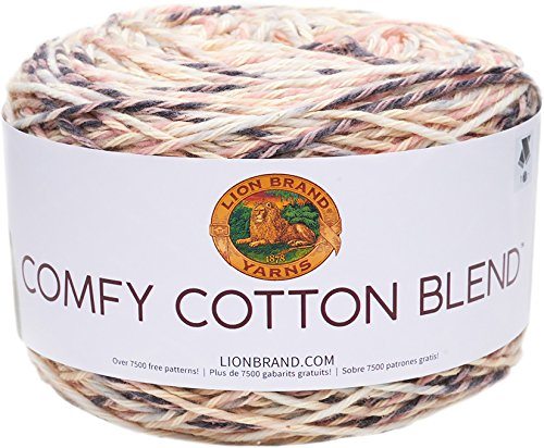 Lion Brand Yarn Comfy Cotton Blend Yarn, Chai Latte