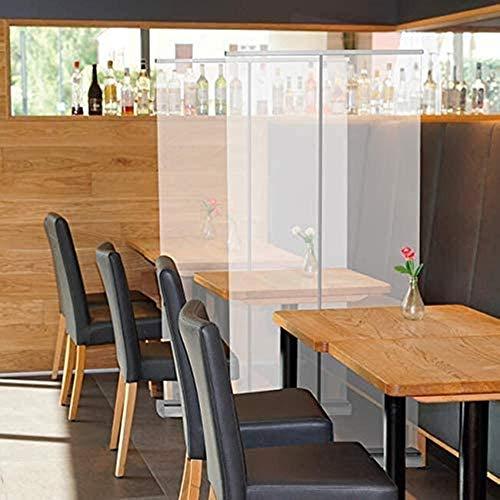 PARTAS Protector antiestornudos para el suelo, enrollable, portátil, con protector de pantalla transparente, para oficina, tiendas, restaurante (tamaño: 80 x 200 cm)