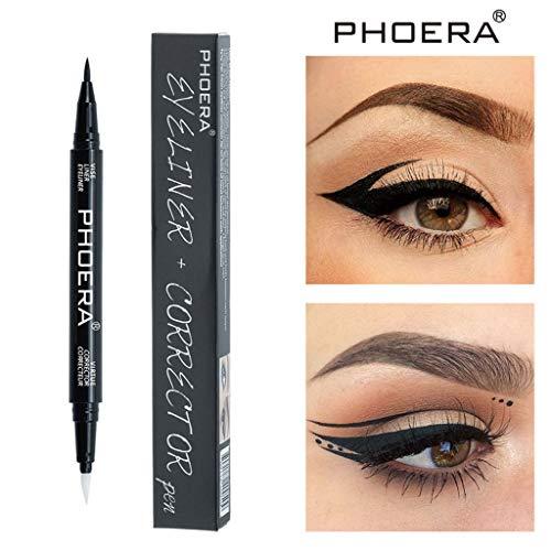 PHOERA Eye Liner Bleistift Eye Make-Up Liquid Pen Comestics Schwarz Wasserdicht Eyeliner Bleistift...