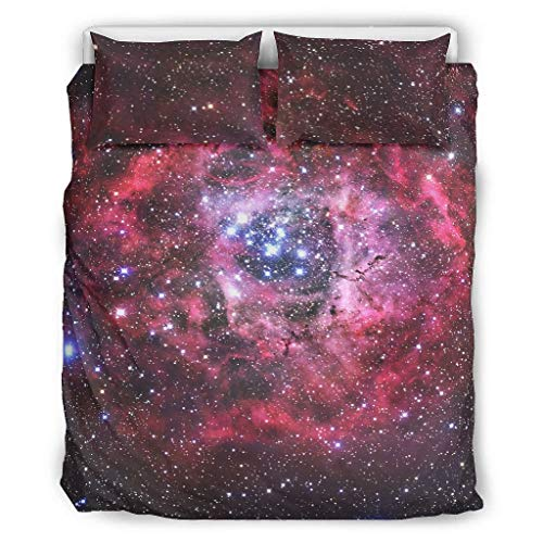 Knowikonwn Galaxy Bedding Sets Set of 3 Pillow/Duvet Cases - Nebula Soft and Comfort Bohemia Bed Sheets Kits white 66x90 inch