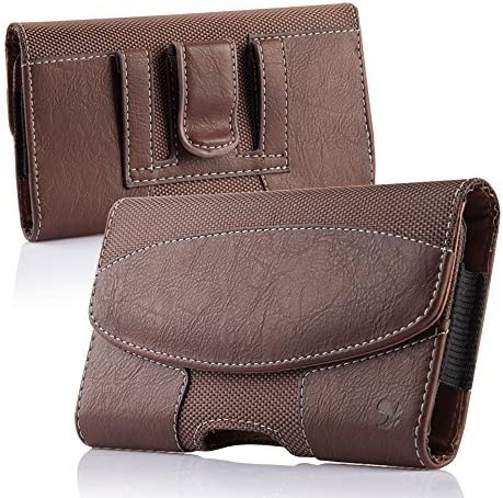 iNNEXT iPhone 8 Plus Belt Clip Case, Premium Horizontal Leather Case Pouch Holster with Magnetic Closure, Pouch Sleeve Carrying Case with Belt Clip Holster for iPhone 7 Plus / 6S Plus 5.5 inch (Brown)
