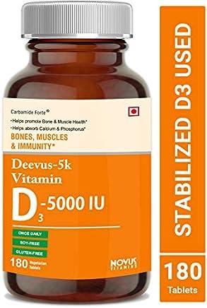 Carbamide Forte Vitamin D3 5000 IU Supplement - 180 Tablets