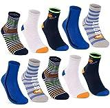 10 pares de calcetines infantiles de algodón para niños y niñas. 10 pares | chico 3 31-34 cm