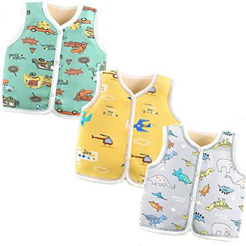 XM-Amigo Baby Jungen Winter Herbst Warm Baby Jungen Dicke Weste Cardigan Top Schulter Baby Jungen Dicke Weste Jacken