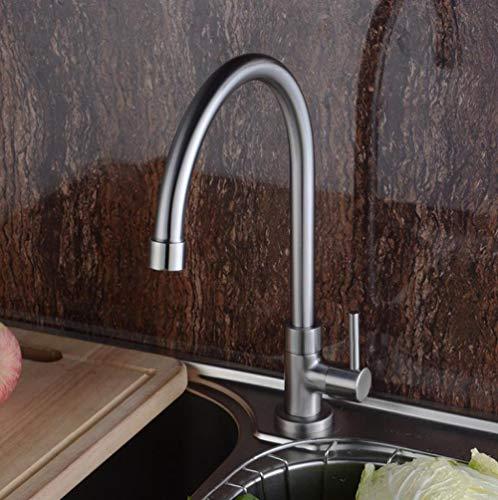 Waterkraan 304 roestvrij staal enkele koude wastafel waterkraan keukenkraan enkele koude wastafel waterkraan sleutel
